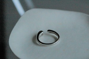 #01.【DROP】× open ring × 925silver × free