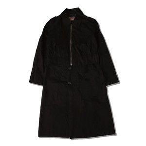 DOCKING TRENCH COAT / BLACK