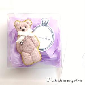 anniversary bear(mauve pink)