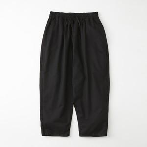MOLESKIN FULL-LENGTH SAROUEL PANTS - BLACK