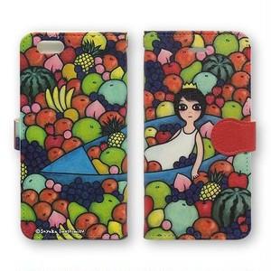手帳型iPhoneケース(フルーツ・パンチ)X、8、7、6/6s、5/5s/SE