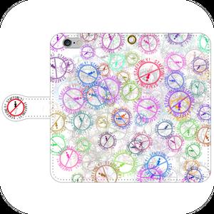 #024-011 iPhoneX対応 病み系・メンヘラ系  オリジナルデザイン 《立ち入り禁止・カラー白》 手帳型iPhoneケース ・ 手帳型スマホケース 全機種対応 作:秋夜 Xperia ARROWS AQUOS Galaxy HUAWEI Zenfone