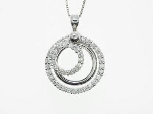 【宝石鑑別書】0.93ct UP ダイヤモンドネックレス K18WG