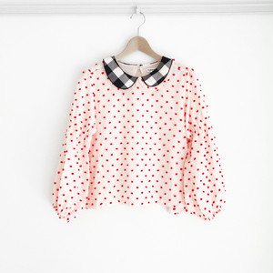 BONBON CUT JQ PEASANT SLEEVES TP / WOMEN
