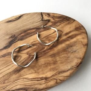 Indian Jewelry Navajo Wave Hoop Earrings