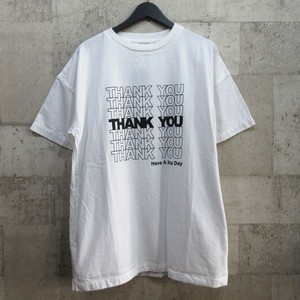 MINEDENIM 20SS THANK YOU PRINT DENIM T-SH
