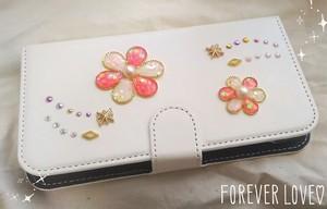 手帳型スマホケース『花のiro –pink-』