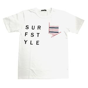 相良刺繍プリント半袖Tシャツ