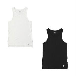 EXAMPLE UNDERWEAR 2PACK LONG TANK TOP / BLACK & WHITE
