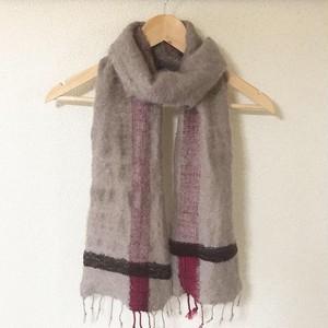 手織り ウールマフラー 0029 handweaving scarf