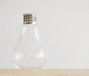 【ガラス容器】電球L(直径90mm(口径30mm)xh170mm)