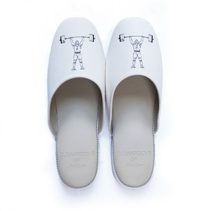 CLOAKROOMS of .Fuller PANTOUFLE クロークルームス スリッパ 【weightlifting】 white/beige 竹田嘉文 デザイン