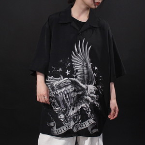 """"""" eagle × motor bicycle's parts """" combined picture art design shirt"""