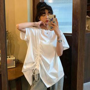 【トップス】半袖無地設計感ありカジュアルTシャツ47538593