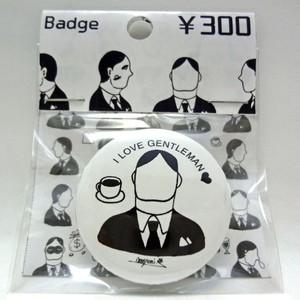 I love紳士 缶バッチ