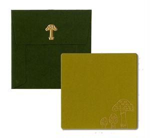 正方形カード・封筒 茸