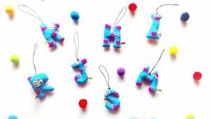 alphabet keyholder/strap sky heart