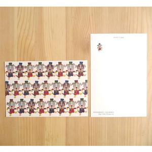 セブンオレンジ オリジナルポストカード 《こいぬのダンス》