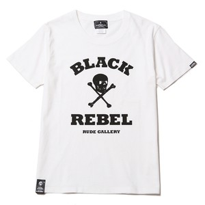 SKULL & BONES TEE (WHITE) / RUDE GALLERY BLACK REBEL