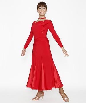 ドレス・ワンピースNo.7062 / レッド