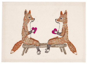 coral&tusk カード smitten foxes