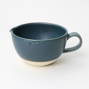 【SL-0076】陶器 片口マグカップ・ボウル ブラックブルー