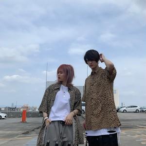 【即納】韓国ファッション レオパードとろみシャツ