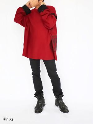 アウトロック・ロングスリーブT シャツ RED
