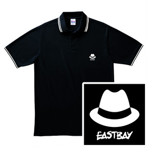 ハット刺繍ポロシャツ / 黒
