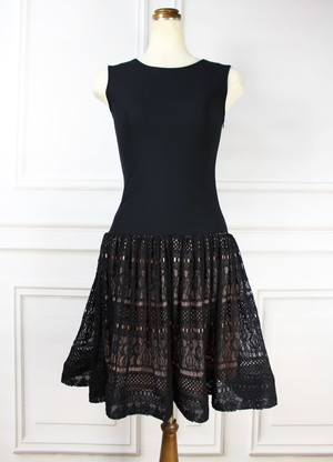 Summer Knit Dress Black
