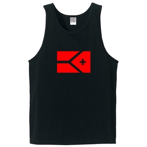 KYUS BIG FLAG タンクトップ(ブラック×レッド)