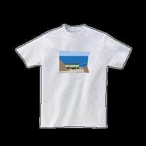 電車Tシャツ-江ノ電鎌倉高校前踏切