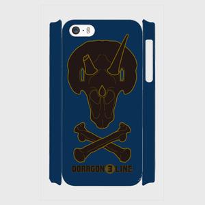(iPhone5s) トリケラトプス D3Lロゴ入り (ブラック+ネイビーブルー)