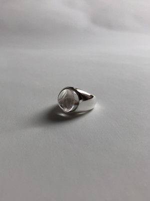 <11.23受注開始> crystal quartz gem wide ring