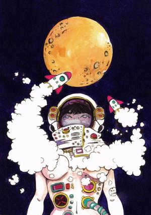 このロケットで月に行く