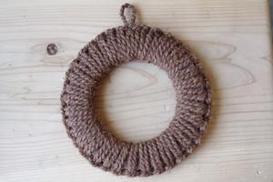 紀州産棕櫚の手編み鍋敷き(大)