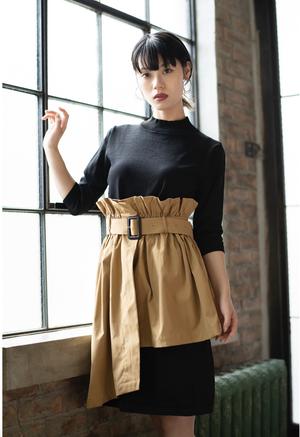 【セットアップ】Layer Skirt & Black Dress / 重ねスカート付き黒ワンピース
