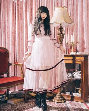 【ManonMimie】Tulle Knit Dress
