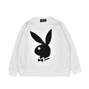 EXAMPLE x PLAYBOY BACK HEART LOGO OVER CREW NECK / WHITE