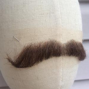 高品質 ロシア製 付け髭 No.44 人毛100% 髪製髭 ウィッグ 職人手作り品です。
