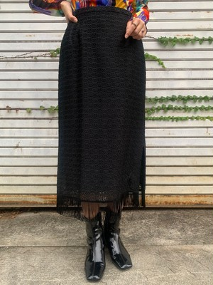 (TOYO) fringe design skirt