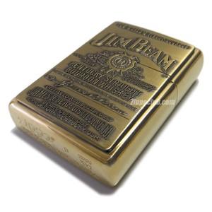 ジムビーム・ラベル・ハイポリッシュブラス / Zippo Jim Beam Label Emblem HP Brass