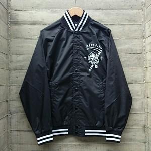 CARPE DIEM/nylon stadium jacket col.blk