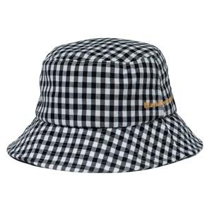 BLACK EYE PATCH / GINGHAM CHECK BUCKET HAT