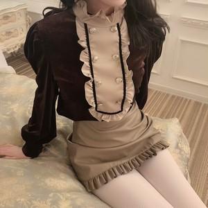 French velvet blouse
