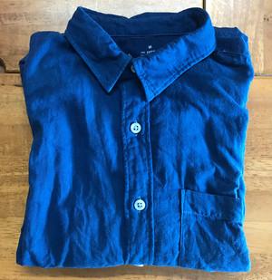 【毎月10枚限定:藍染め作業を承ります】シャツの藍染め