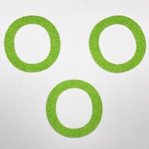切り文字 A&Cペーパー パルプロックPBR‐006(グリーン) 粘着付 ローマ字「O」
