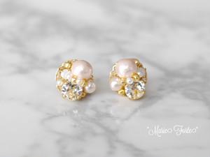 Petit pearl【14kgfピアス・ノンホールピアス】