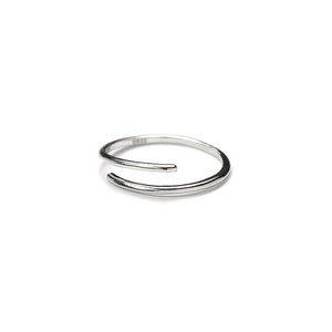 S925 LAYERED OPEN RING SILVER
