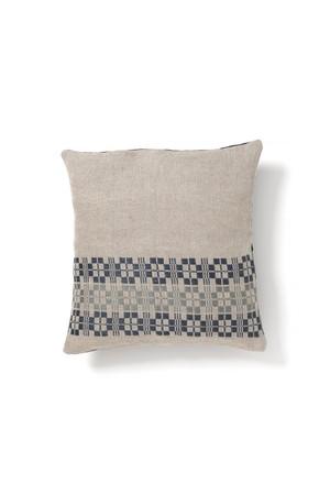 コピー:Aya Textile / ムンカベルテ 手織りのクッションカバー  ブルー・グレー